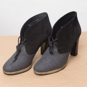 J. Crew Flannery platform ankle boots 6.5